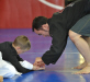 Professor Hendricks teaches kid's grappling techniqes